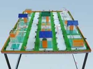 污水厂平面布置模型